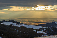 It was super windy at the Beaver Creek Overlook at 9,430'. But I sat and waited for the sun to come out between clouds and light up the snowy mountains.