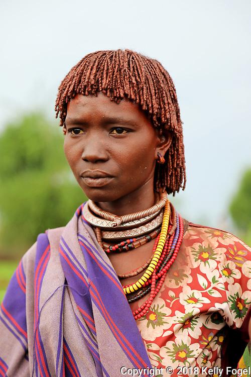 Hamer Tribe, Omo Valley, Southern Ethiopia.  Lojira Village, Turmi.