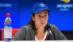 September 2, 2018 - Anastasija Sevastova of Latvia talks to the media after winning her fourth-round match at the 2018 US Open Grand Slam tennis tournament. New York, USA. September 02th, 2018. (Credit Image: © AFP7 via ZUMA Wire)
