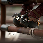 A set of spurs ready to ride at the 2016 Darby MT EPB.  Josh Homer photo.  Photo credit must be given on all uses.