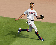 CHICAGO - JUNE 29:  Byron Buxton #25 of the Minnesota Twins fields against the Chicago White Sox on June 29, 2019 at Guaranteed Rate Field in Chicago, Illinois.  (Photo by Ron Vesely)  Subject:  Byron Buxton
