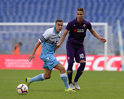 October 7, 2018 - Rome, Italy - Marko Pjaca and Adam Marusic during the Italian Serie A football match between S.S. Lazio and Fiorentina at the Olympic Stadium in Rome, on october 07, 2018. (Credit Image: © Silvia Lore/NurPhoto/ZUMA Press)