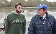 """Putney. London. GREAT BRITAIN;  Left, Peter HAINING and right, Times Rowing Correspondent, Mike ROSEWELL.<br /> <br /> 1995 Thames World Sculling Championships, Putney to Mortlake. Championship Course, River Thames.<br /> <br /> [Mandatory Credit; """"Photo, Peter Spurrier/Intersport-images]"""