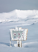 A public information sign in Daisetsuzan National Park, Hokkaid?, Japan