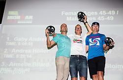 Trophy ceremony during I feel Slovenia Ironman 70.3 Slovenian Istra 2018, on September 23, 2018 in Koper / Capodistria, Slovenia. Photo by Vid Ponikvar / Sportida