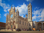 The Cathedral of Siena, dedicated from its earliest days as a Roman Catholic Marian church and now to Santa Maria Assunta (Most Holy Mary of Assumption), is a medieval church in Siena, central Italy.  <br /> The cathedral itself was originally designed and completed between 1215 and 1263 on the site of an earlier structure