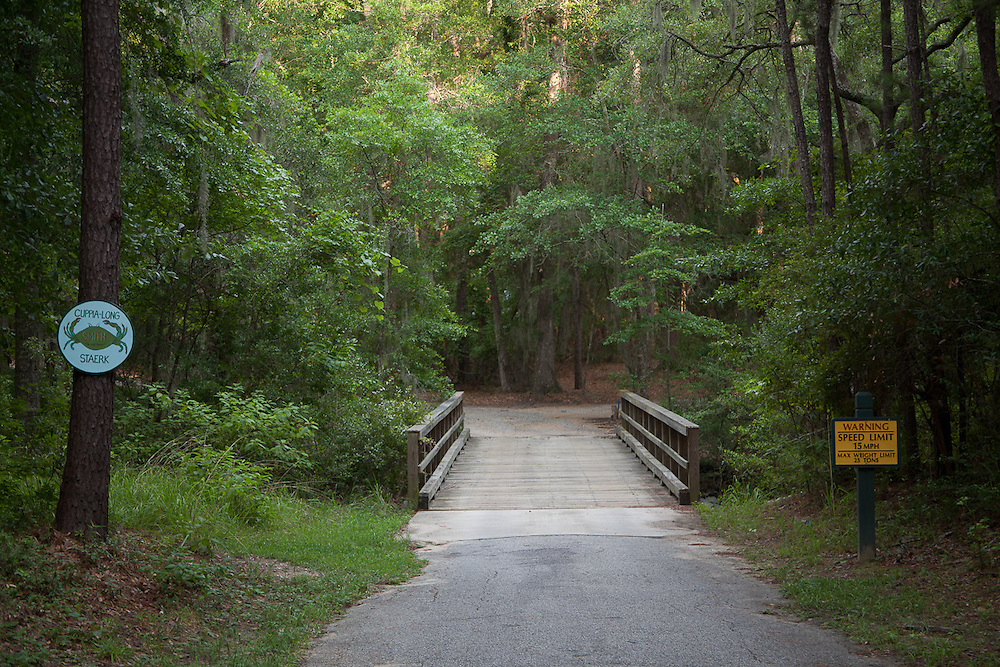 A wooden bridge, recently rebuilt and rated at 25 tons, leads to 33 Pine View Drive and two neighbors.