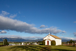 The little Anglican Church of the Holy Nativity, at Bishopsbourne in Tasmania's northern midlands.