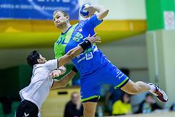 Ziga Mlakar of Slovenia during Handball friendly match between Slovenia and Iran, on January 4, 2018 in Dol pri Hrastniku, Dol pri Hrastniku, Slovenia. Photo by Ziga Zupan / Sportida