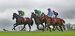 Blue Templar (5) ridden by Ray Barron goes on to win The Kildare Hunt Club Fr Sean Breen Memorial Steeplechase for the Ladies Perpetual Cup during day one of the Punchestown Festival at Punchestown Racecourse, County Kildare, Ireland.