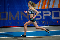 Britt Roos in action on the 800 meters during limit matches to be held simultaneously with the Dutch Athletics Championships on 14 February 2021 in Apeldoorn