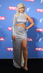 August 20, 2018 - New York City, New York, U.S. - Singer BEBE REXHA poses for photos in the press room for the 2018 MTV 'VMAS' held at Radio City Music Hall. (Credit Image: © Nancy Kaszerman via ZUMA Wire)