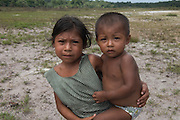 Nanolene and baby<br /> Phillipai<br /> GUYANA<br /> South America