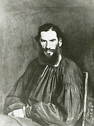 'Leo Nikolayevich Tolstoy (1828-1910) in 1873, Russian writer of novels and short stories and, in later life, of plays and essays. After portrait by Ivan Kramskoy.'