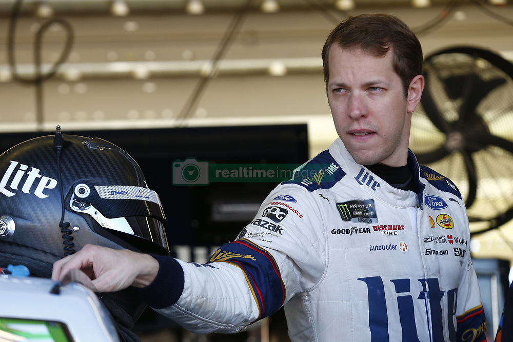 November 11, 2017 - Avondale, Arizona, United States of America - November 11, 2017 - Avondale, Arizona, USA: Brad Keselowski (2) hangs out in the garage during practice for the Can-Am 500(k) at Phoenix Raceway in Avondale, Arizona. (Credit Image: © Justin R. Noe Asp Inc/ASP via ZUMA Wire)