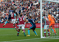 Football - 2016 / 2017 Premier League - West Ham United vs. Middesborough <br /> <br /> Christian Stuani of Middlesborough rises to glance his header towards the West Ham goal and give his team the lead at The London Stadium.<br /> <br /> COLORSPORT/DANIEL BEARHAM