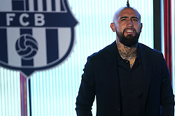 August 6, 2018 - Barcelona, Spain - Official presentation of Arturo Vidal as new player of FC Barcelona, in Barcelona, Spain, on August 6, 2018. (Credit Image: © Joan Valls/NurPhoto via ZUMA Press)
