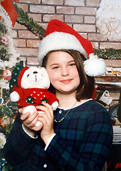 21 May 2015. Laurel, Mississippi.<br /> Collect photos of plus size model Tess Holliday (formerly known as Tess Munster, née Ryann Hoven) in her formative years from a family album. Christmas photo of a young Tess.<br /> Photo credit; Tadlock via Varleypix.com