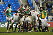 Reading, GREAT BRITAIN, Exiles Front row,  packing down, during the third round Heineken Cup game, London Irish vs Ulster Rugby, at the Madejski Stadium, Reading ENGLAND, Sat 09.12.2006. [Photo Peter Spurrier/Intersport Images]