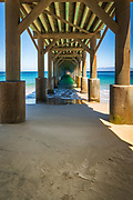 The Beechers Bay pier, Santa Rosa Island, Channel Islands National Park, California USA