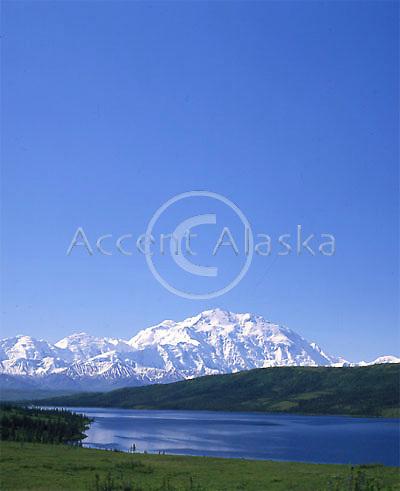 Mt. McKinley and Wonder Lake. Denali National Park. Alaska.