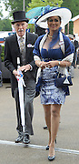 © Licensed to London News Pictures. 21/06/2012. Ascot, UK Sir Bruce and Lady Forsyth. Ladies Day at Royal Ascot 21st June 2012. Royal Ascot has established itself as a national institution and the centrepiece of the British social calendar as well as being a stage for the best racehorses in the world.. Photo credit : Stephen Simpson/LNP