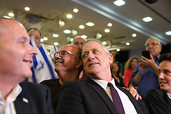 March 27, 2019 - Ramat Gan, Israel - Benny Ganz, head of Blue and White party, poses for a selfie with a supporter during an elections campaign event in Ramat Gan on March 27, 2019. (Credit Image: © Gili Yaari/NurPhoto via ZUMA Press)