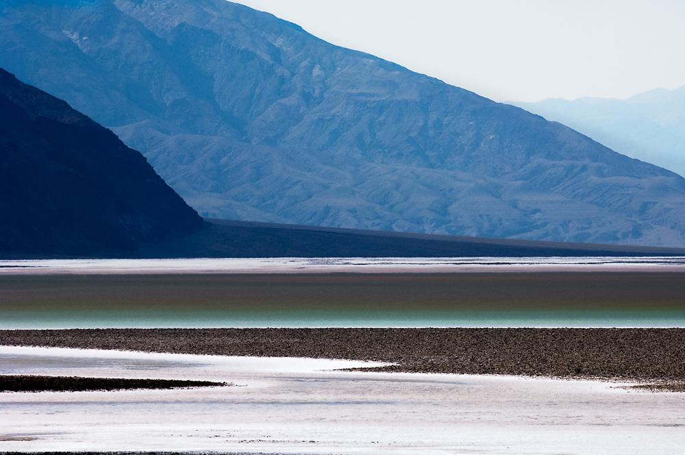 Salt formation, morning light, April, Badwater Basin ,Death Valley National Park, Mojave Desert, California, USA
