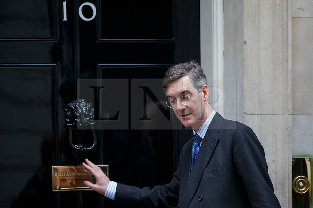 © Licensed to London News Pictures. 21/03/2016. London, UK. Jacob Rees-Mogg arriving at Downing Street in London on Monday, 21 March 2016. Photo credit: Tolga Akmen/LNP