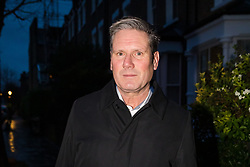 © Licensed to London News Pictures. 19/12/2019. London, UK. Shadow Brexit Secretary, Sir Keir Starmer leaves his London home this morning. Sir Keir Starmer has declared his intention to enter the Labour Party leadership race to succeed Jeremy Corbyn and become leader of the Labour Party. Photo credit: Vickie Flores/LNP