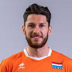 Maikel van Zeist of Netherlands, Photoshoot selection of Orange men's volleybal team season 2021on may 11, 2021 in Arnhem, Netherlands (Photo by RHF Agency/Ronald Hoogendoorn)