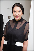 MARINA ABRAMOVIC, 2014 Serpentine's summer party sponsored by Brioni.with a pavilion designed this year by Chilean architect Smiljan Radic  Kensington Gdns. London. 1July 2014