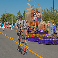 People in Butte, Montana celebrate the Fourth of July (2011) with a parade.