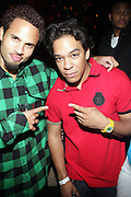"""l to r: Quudus and Michael Aguilar (Double-O) at The YRB Magazine's """" How You Rock It 3 """" with a special performance by Busta Ryhmes and hosted by YRB held at M2 Lounge on May 19, 2009 in New York City."""