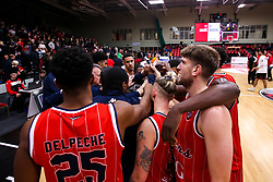 Bristol Flyers huddle - Photo mandatory by-line: Robbie Stephenson/JMP - 11/01/2019 - BASKETBALL - Leicester Sports Arena - Leicester, England - Leicester Riders v Bristol Flyers - British Basketball League Championship