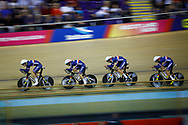 Men Team Pursuit, France, during the Track Cycling European Championships Glasgow 2018, at Sir Chris Hoy Velodrome, in Glasgow, Great Britain, Day 1, on August 2, 2018 - Photo Luca Bettini / BettiniPhoto / ProSportsImages / DPPI - Belgium out, Spain out, Italy out, Netherlands out -