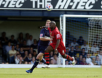Photo: Olly Greenwood.<br />Southend United v Cardiff City. Coca Cola Championship. 24/09/2006. Cardiff's Kerrea Gilbert and Southend's Freddy Eastwood