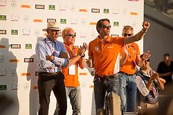 Van Asten Leopold, Ehrens Rob, Hogendoorn Arie<br /> Individual competition round 3 and Final Team<br /> FEI European Championships - Aachen 2015<br /> © Hippo Foto - Jon Stroud<br /> 21/08/15