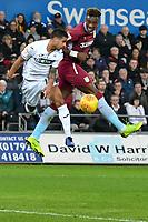 Football - 2018 / 2019 Championship - Swansea City vs Aston Villa<br /> … at the Liberty Stadium.<br /> <br /> Tammy Abraham of Aston Villa heads at goal <br /> <br /> Credit: COLORSPORT/Winston Bynorth