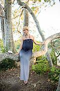 Aksana poses for her maternity portrait at Vasona Lake County Park in Los Gatos, California, on September 6, 2015. (Stan Olszewski/SOSKIphoto)