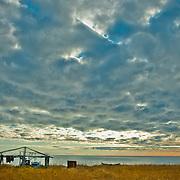 Remote Cape Krusenstern National Monument on Alaska'a northwestern coast juts into the Bering Sea.