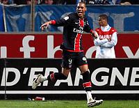 Fotball<br /> Frankrike<br /> Foto: DPPI/Digitalsport<br /> NORWAY ONLY<br /> <br /> FOOTBALL - FRENCH CHAMPIONSHIP 2008/2009 - L1 - OLYMPIQUE MARSEILLE v PARIS SG - 26/10/2008 - JOY GUILLAUME HOARAU (PSG) AFTER HIS GOAL
