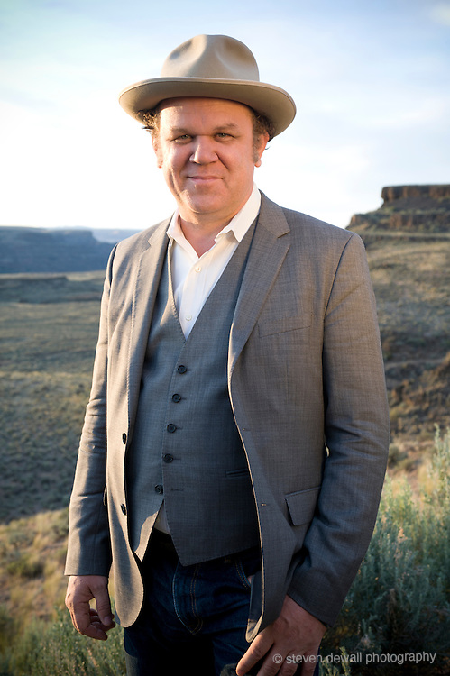 George, WA. - May 28th, 2012 John Reilly poses for a portrait backstage at the Sasquatch Music Festival in George, WA. United States