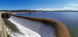 South Africa - Cape Town - 05 October 2020 - Theewaterskloof dam is overflowing. The biggest dam in the Western Cape is 101.7% full. The dam reached its full capacity last week and it's the first time since 2014 the dam is full. Picture: Henk Kruger/African News Agency(ANA)