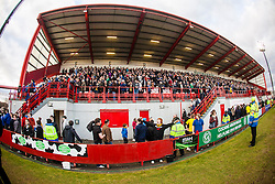 Falkirk fans at the end..Hamilton 1 v 2 Falkirk, Scottish Cup quarter-final, Saturday, 2nd March 2013..©Michael Schofield.