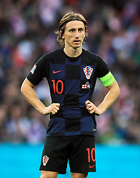 Croatia's Luka Modric during the UEFA Nations League, Group A4 match at Wembley Stadium, London. PRESS ASSOCIATION Photo. Picture date: Sunday November 18, 2018. See PA story SOCCER England. Photo credit should read: Mike Egerton/PA Wire. RESTRICTIONS: Use subject to FA restrictions. Editorial use only. Commercial use only with prior written consent of the FA. No editing except cropping.
