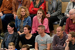 26-10-2019 NED: Talentteam Papendal - Draisma Dynamo, Ede<br /> Round 4 of Eredivisie volleyball - Support, publiek, fan, Anneclaire ter Brugge #15 of Talent Team