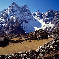 Khumbila and Yak pastures, Khumbu region, Nepal, 1980