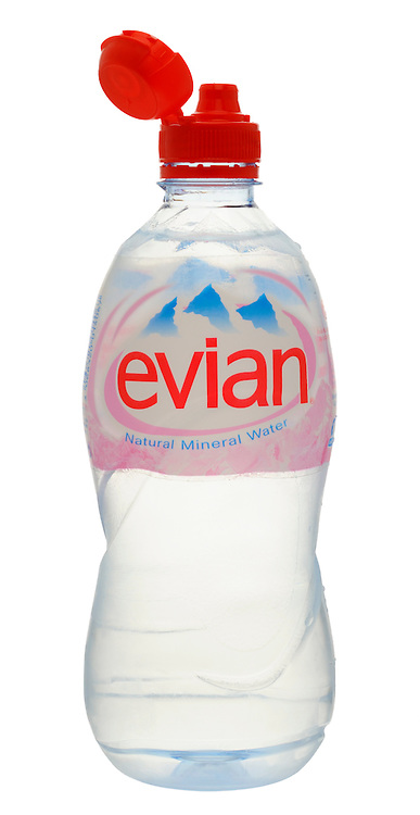 Bottle of Evian Mineral Water
