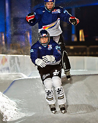 03-02-2012 SKATING: RED BULL CRASHED ICE WORLD CHAMPIONSHIP: VALKENBURG<br /> Michael Urban CZE during a training session<br /> ©2012-FotoHoogendoorn.nl/Peter Schalk